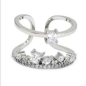 Popular micro crystal silver ring
